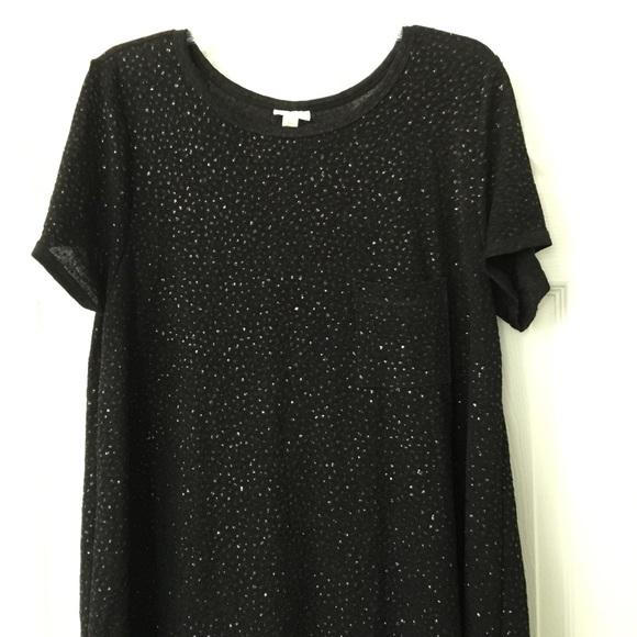 7e77c180 LuLaRoe Dresses   Black Glitter Carly Dress 3xl Elegant   Poshmark